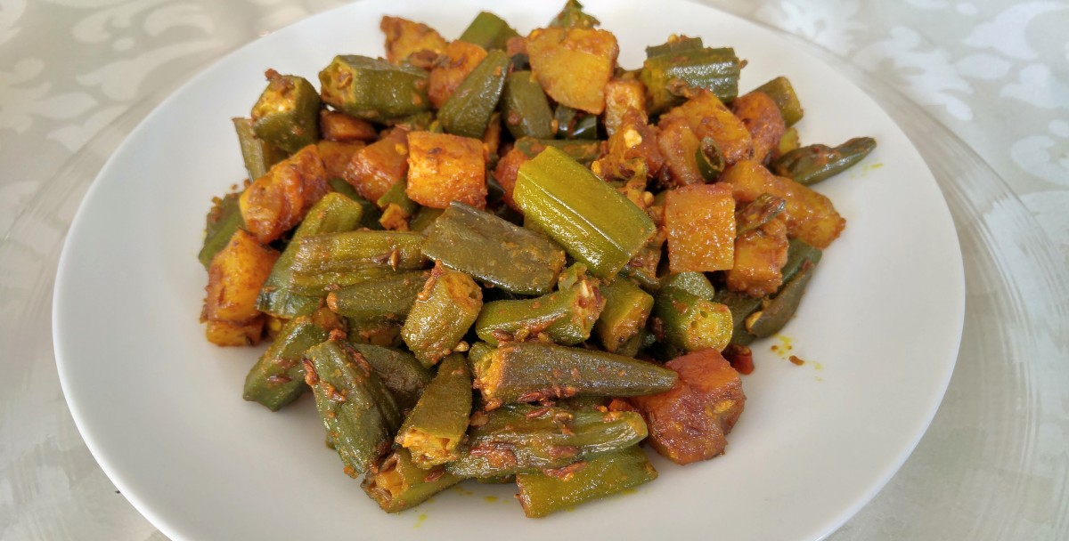 Okra Potato Stir Fry